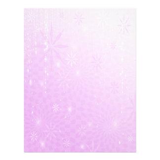 Papel con membrete púrpura del día de fiesta de la membrete a diseño
