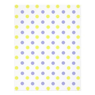 Papel con membrete púrpura y amarillo del lunar membrete a diseño