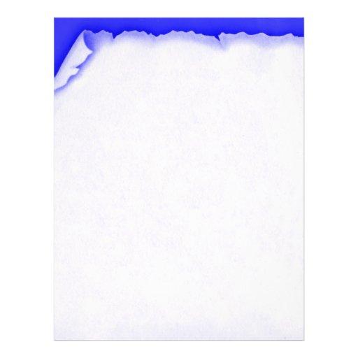 Papel con membrete rasgado vintage del azul del plantillas de membrete