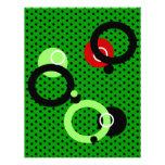 Papel con membrete retro de los círculos plantillas de membrete