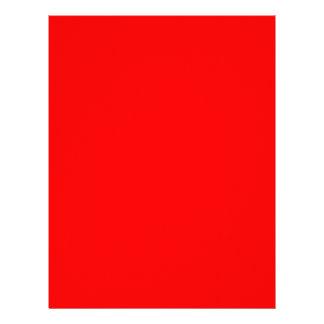 Papel con membrete rojo brillante membretes personalizados
