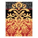Papel con membrete rojo, negro y del oro real dora membrete a diseño