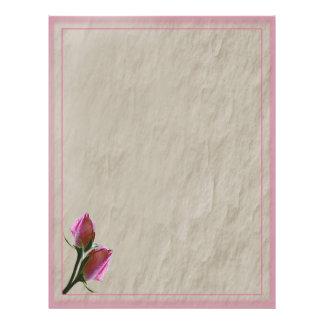 Papel con membrete rosado de los rosas membrete personalizado