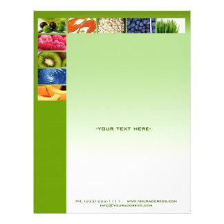 Papel con membrete sano del nutricionista de la membrete a diseño