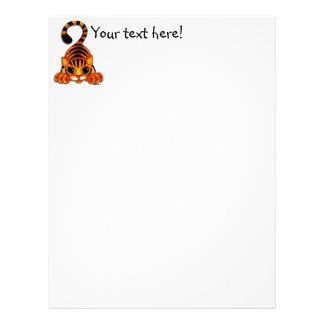 Papel con membrete - Tiggy el tigre Membrete