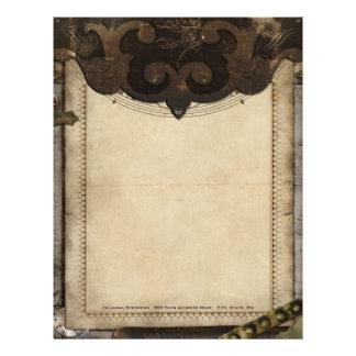 Papel con membrete único y fresco de Steampunk del Plantilla De Membrete