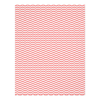 Papel coralino de Chevron/del libro de recuerdos d Tarjetas Informativas