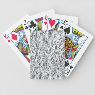 Papel de aluminio barajas de cartas