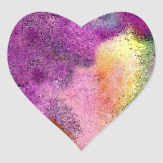 Papel de arroz pintado acuarela pegatina en forma de corazón