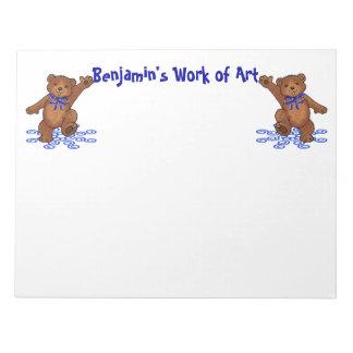 Papel de arte de los osos de peluche bloc de notas