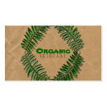 Papel de Brown oscuro orgánico Plantilla De Tarjeta De Negocio