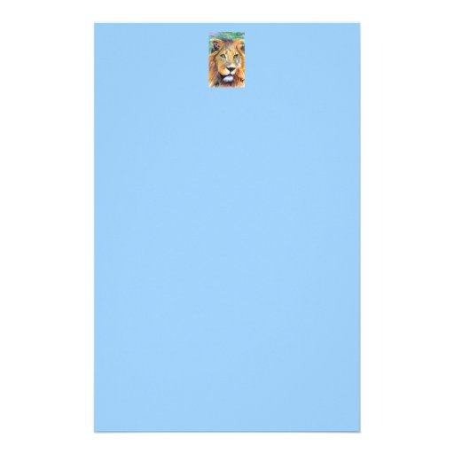 Papel de carta del retrato ACEO del león Papelería Personalizada