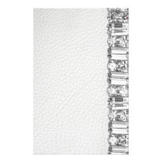 Papel de carta inmóvil del falso diamante artifici papelería de diseño