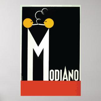 Papel de cigarrillo de Modiano del vintage Póster