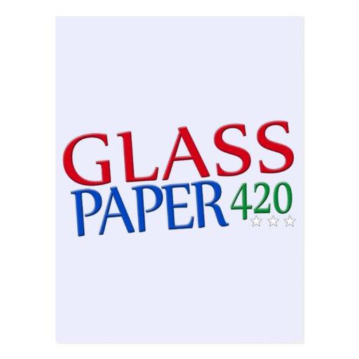 Papel de cristal 420 postales