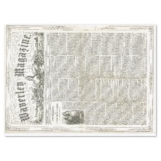 Papel de Decoupage de las Ephemeras del vintage Papel De Seda Grande