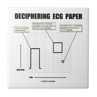 Papel de desciframiento de ECG Tejas Cerámicas