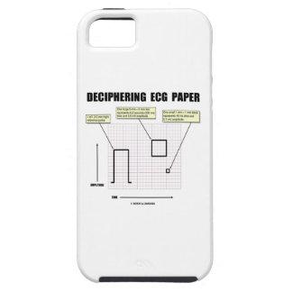 Papel de desciframiento de ECG iPhone 5 Carcasa