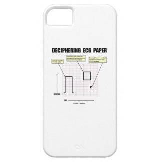 Papel de desciframiento de ECG iPhone 5 Case-Mate Fundas