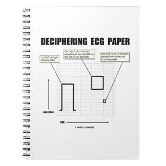 Papel de desciframiento de ECG Libro De Apuntes Con Espiral