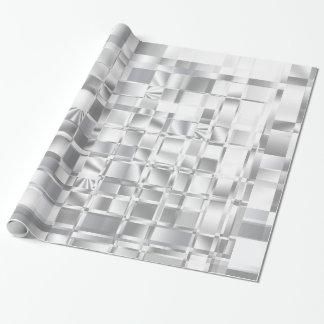 Papel de embalaje abstracto de los cuadrados del papel de regalo