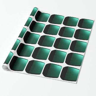 Papel de embalaje adaptable verde de las cajas 3D