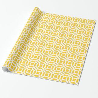 Papel de embalaje amarillo del enrejado papel de regalo