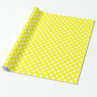 Papel de embalaje amarillo y blanco soleado del papel de regalo