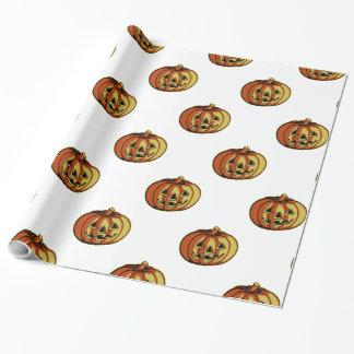 Papel de embalaje anaranjado de la calabaza papel de regalo