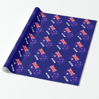 Papel de embalaje australiano de la bandera papel de regalo