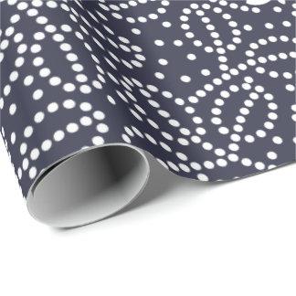 Papel de embalaje azul clásico de la mariposa papel de regalo