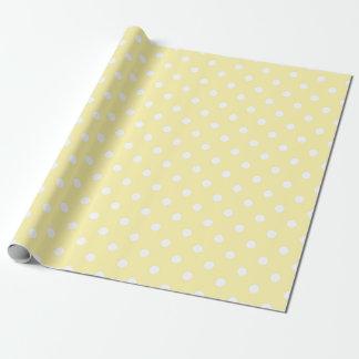 Papel de embalaje blanco de los lunares del papel de regalo