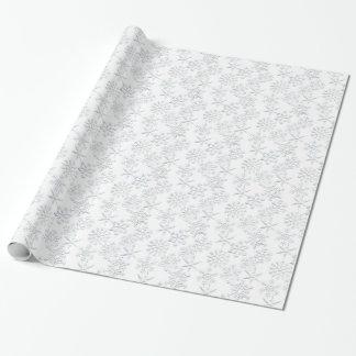 Papel de embalaje blanco del navidad del modelo papel de regalo