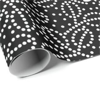 Papel de embalaje blanco y negro de la mariposa