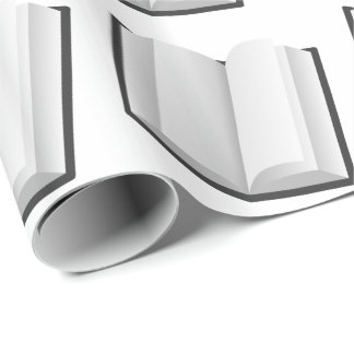 Papel de embalaje BLANCO Y NEGRO de los LIBROS
