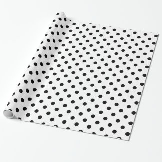 Papel de embalaje blanco y negro del modelo de papel de regalo