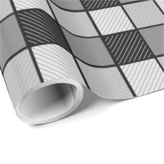 Papel de embalaje blanco y negro papel de regalo