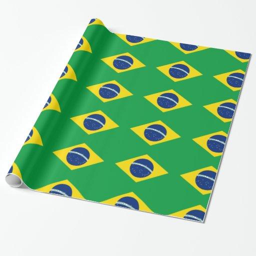 Papel de embalaje brasileño de la bandera