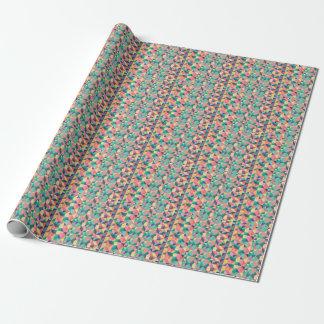 Papel de embalaje brillante 2' geometría del arco papel de regalo