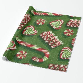 Papel de embalaje brillante del caramelo del papel de regalo