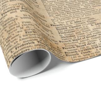 Papel de embalaje brillante del diseño del vintage papel de regalo