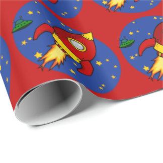 """Papel de embalaje brillante rojo de Rocket 30"""" x6 Papel De Regalo"""