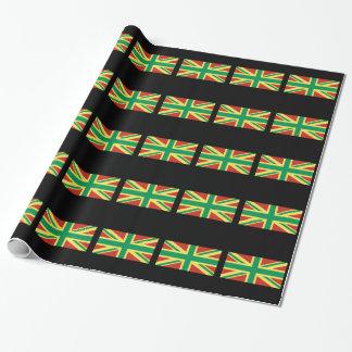 Papel de embalaje BRITÁNICO de la bandera de Rasta