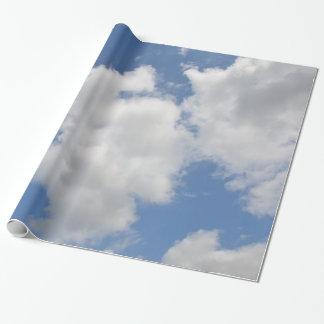 Papel de embalaje caprichoso de la nube papel de regalo