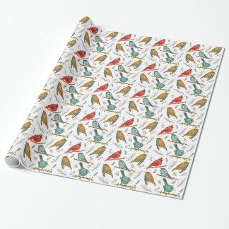 Papel de embalaje cardinal del pájaro
