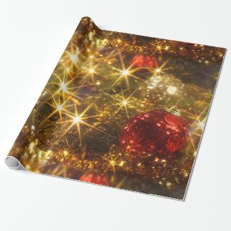 Papel de embalaje chispeante del navidad papel de regalo