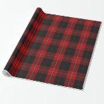 Papel de embalaje clásico de la tela escocesa de