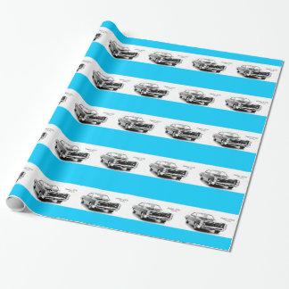 Papel de embalaje clásico del coche papel de regalo