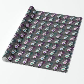 Papel de embalaje colorido de la margarita de papel de regalo