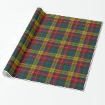 Papel de embalaje colorido de la tela escocesa de